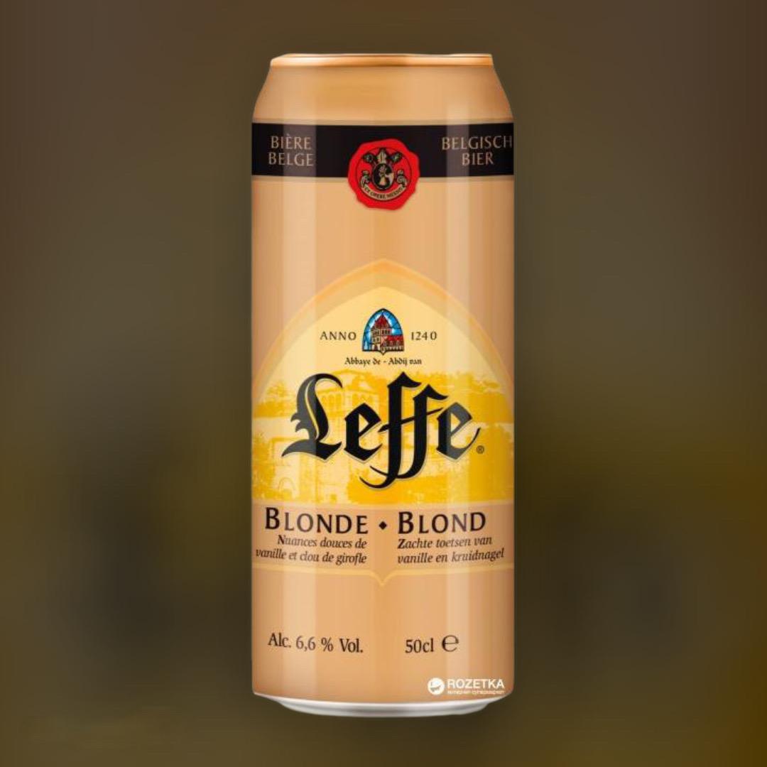 Leffe Blonde Beer light filtered 6.6% 0,5l
