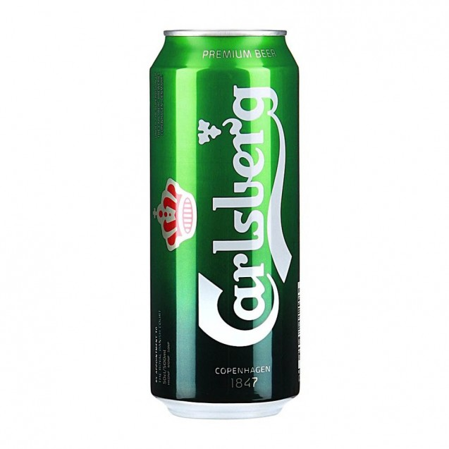 Carlsberg beer delivery at night in Kiev