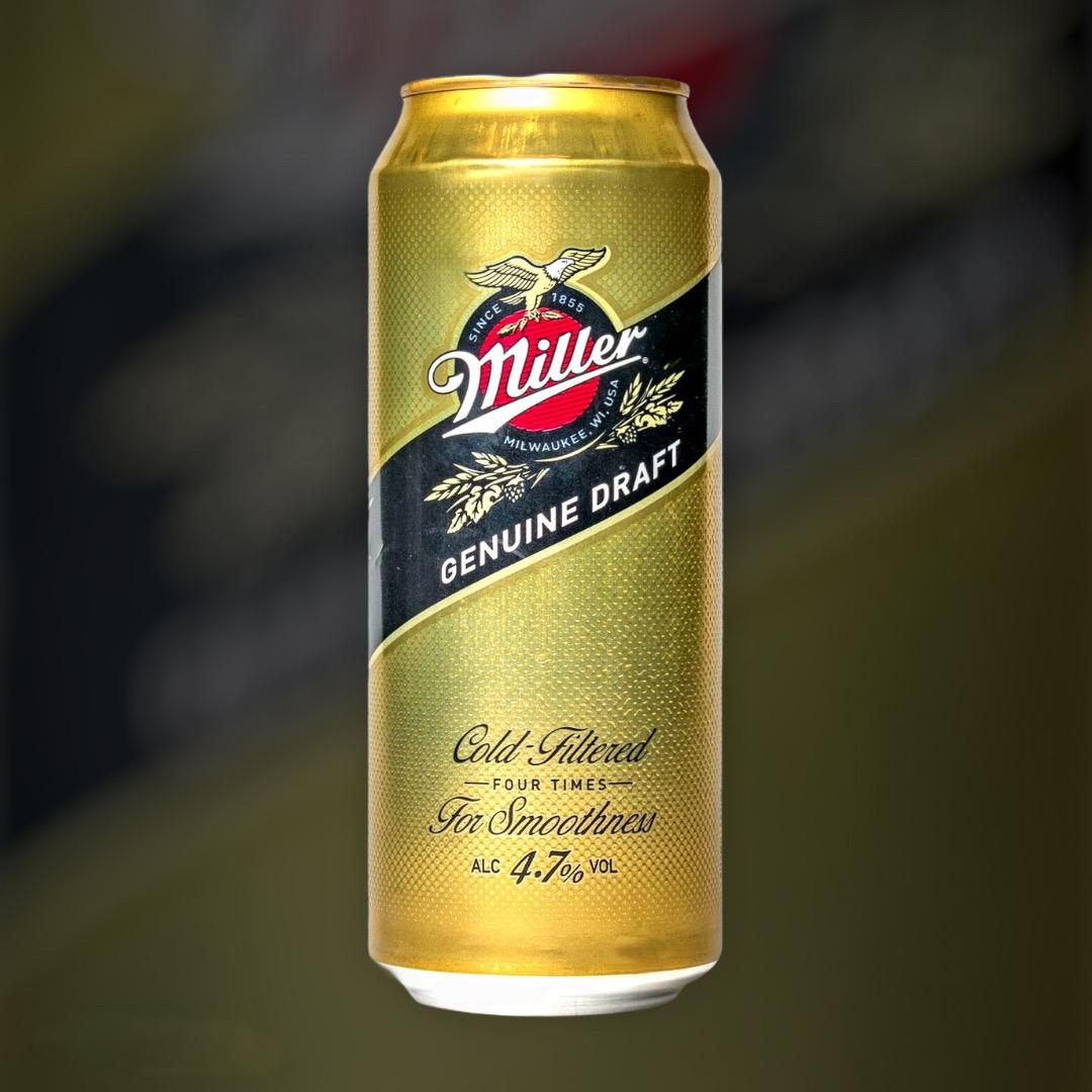 Beer Miller Genuine Draft light filtered 4.4% 0,5l