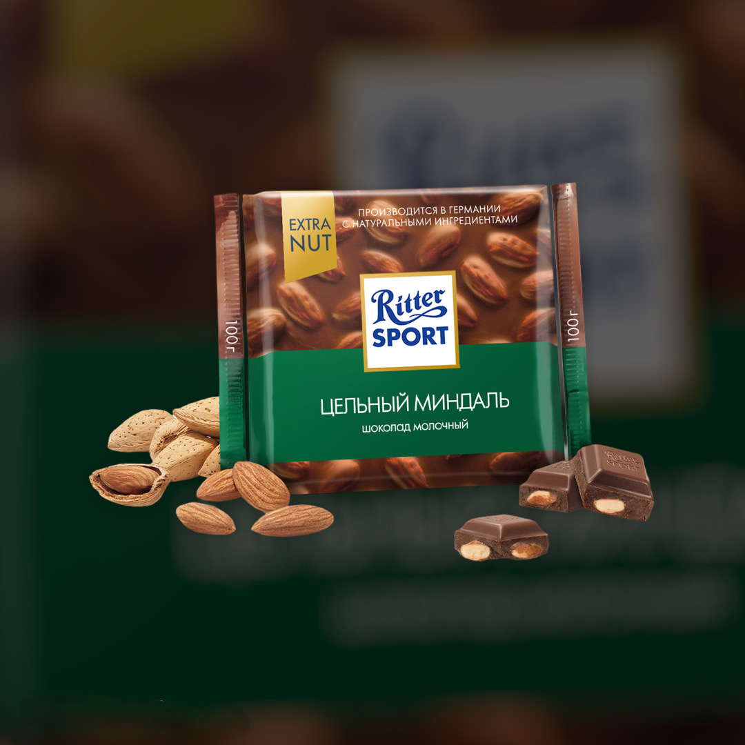 Ritter sport milk with almonds 100g