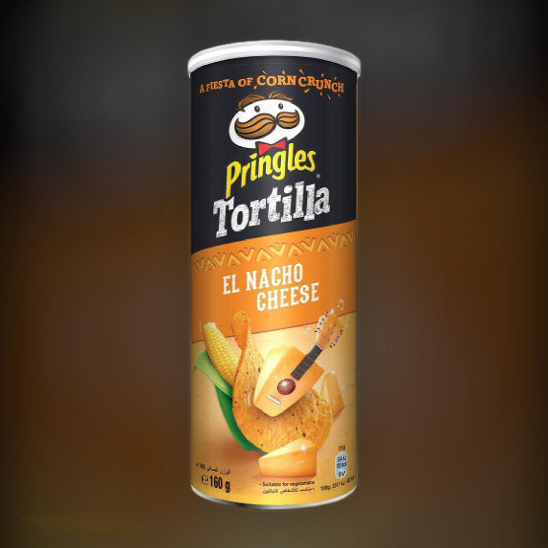 Corn chips Pringles Tortilla El Nacho Cheese flavored with nacho cheese 160g
