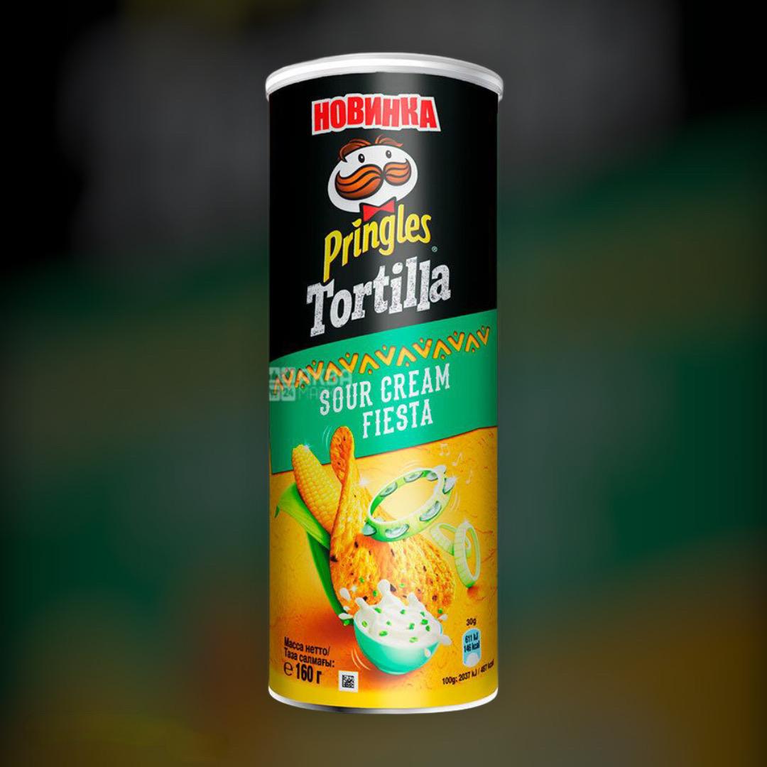 Corn chips Pringles Tortilla tasteful cream and herbs 165g