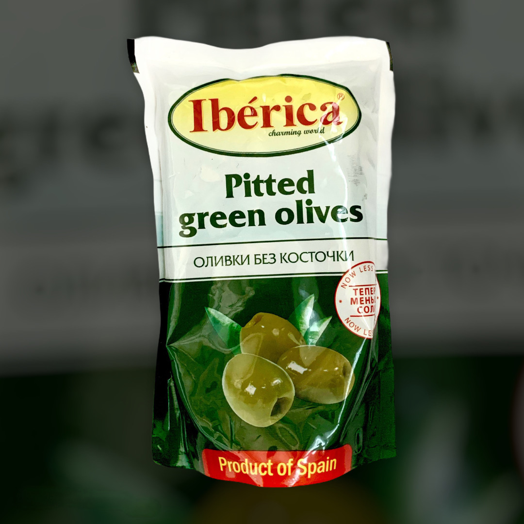 Olives green pitted Iberica 170g