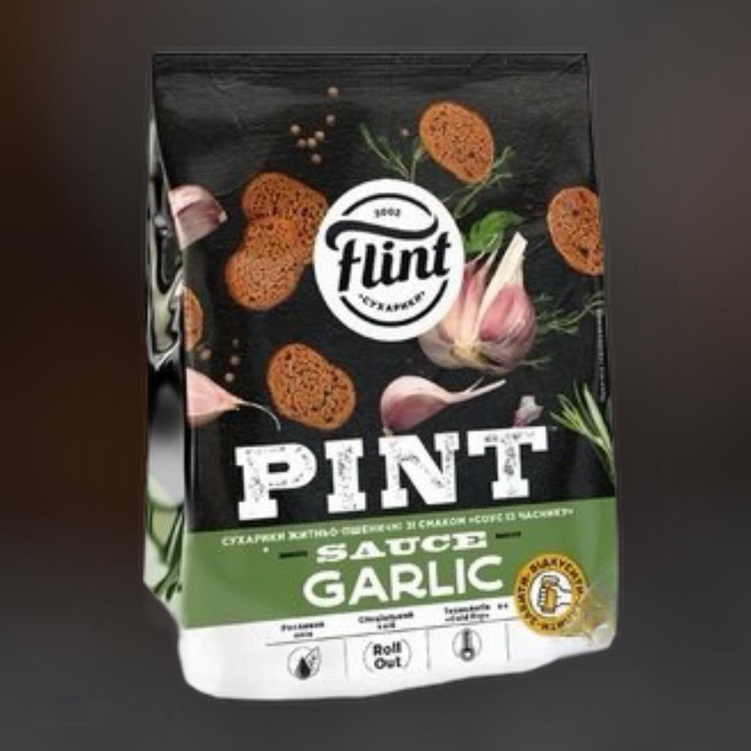 Flint crackers wheat-rye garlic sauce 110g