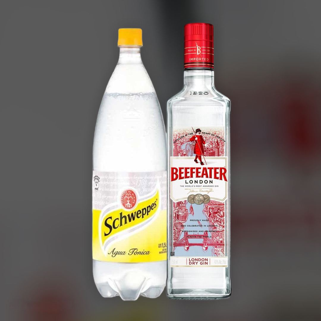 Delivery gin Beefeater + Schweppes Tonic clock in Kiev