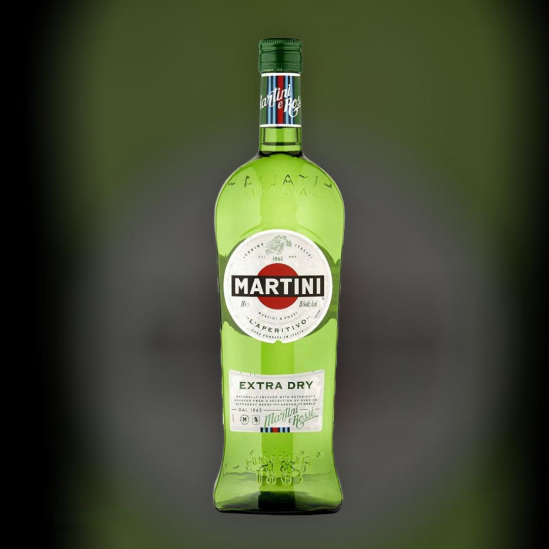 Wermuth Martini Extra Dry, white powder 18% 0,5l