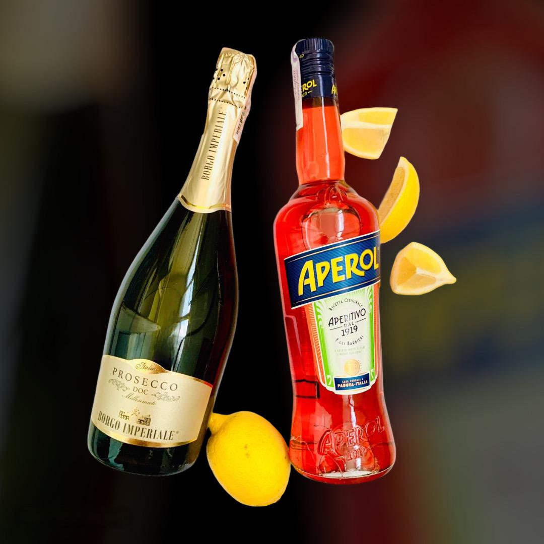 wine delivery and liqueur Aperol + Prosecco clock in Kiev