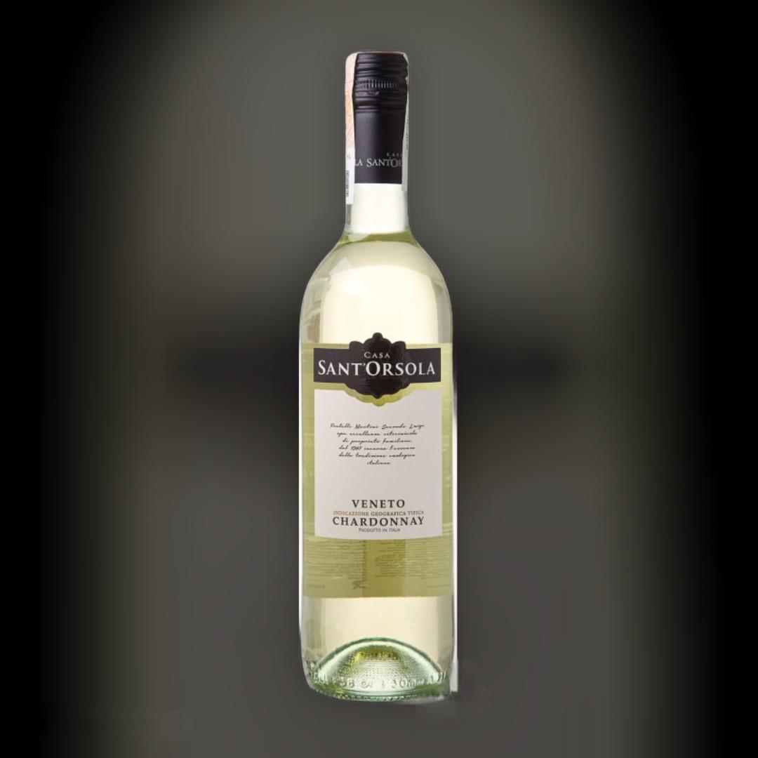Wine SantOrsola Chardonnay dry white Italy 12% 0,75