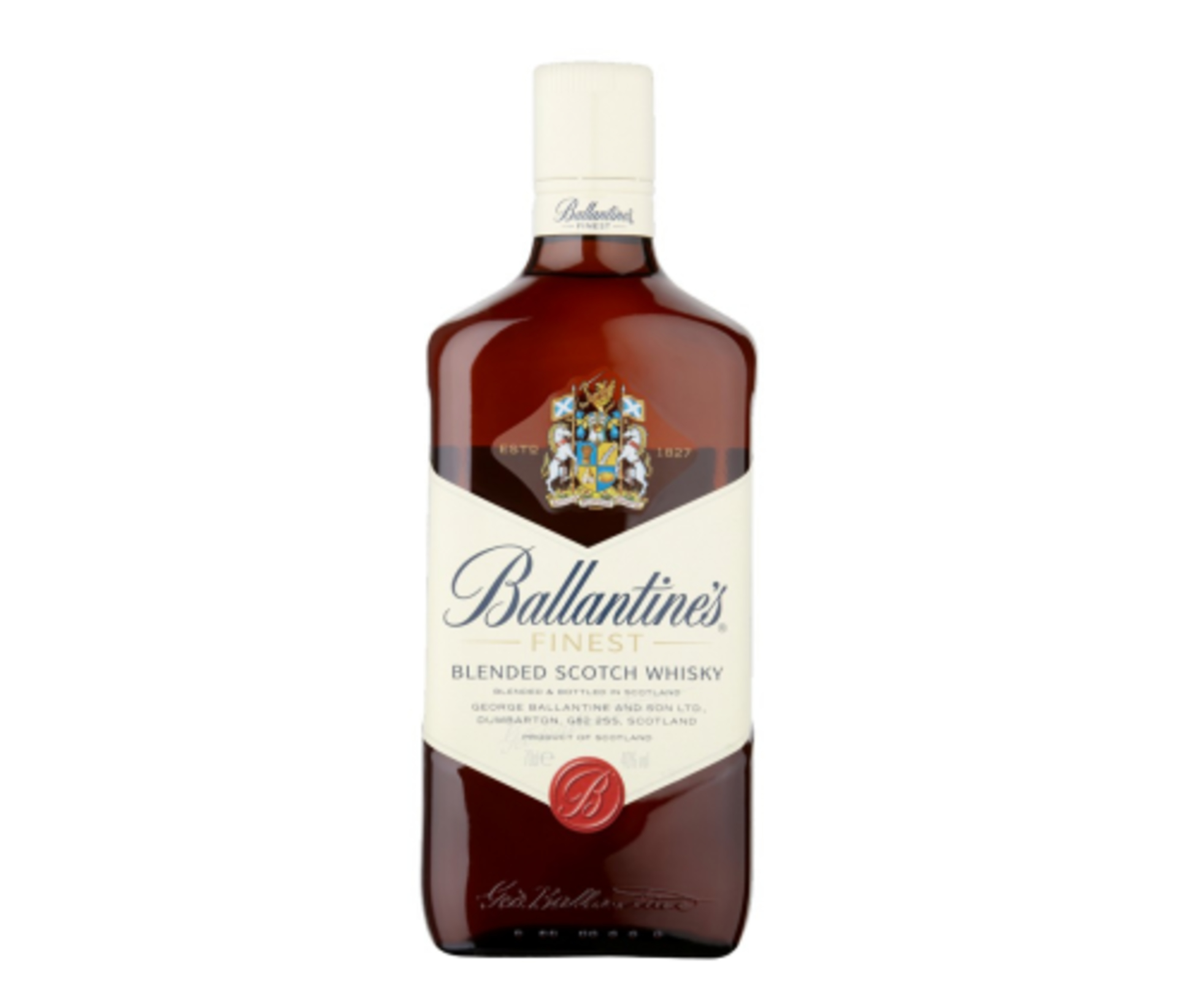 Ballantines Finest Whiskey order delivery at night in Kiev
