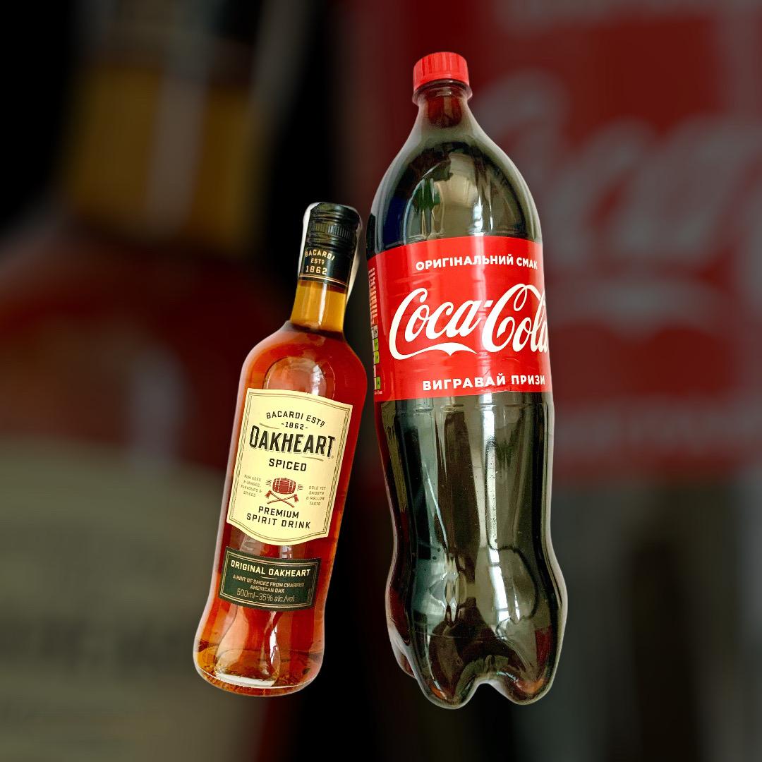Set Rum OakHeart + Coca-Cola 0,5l + 1,5l
