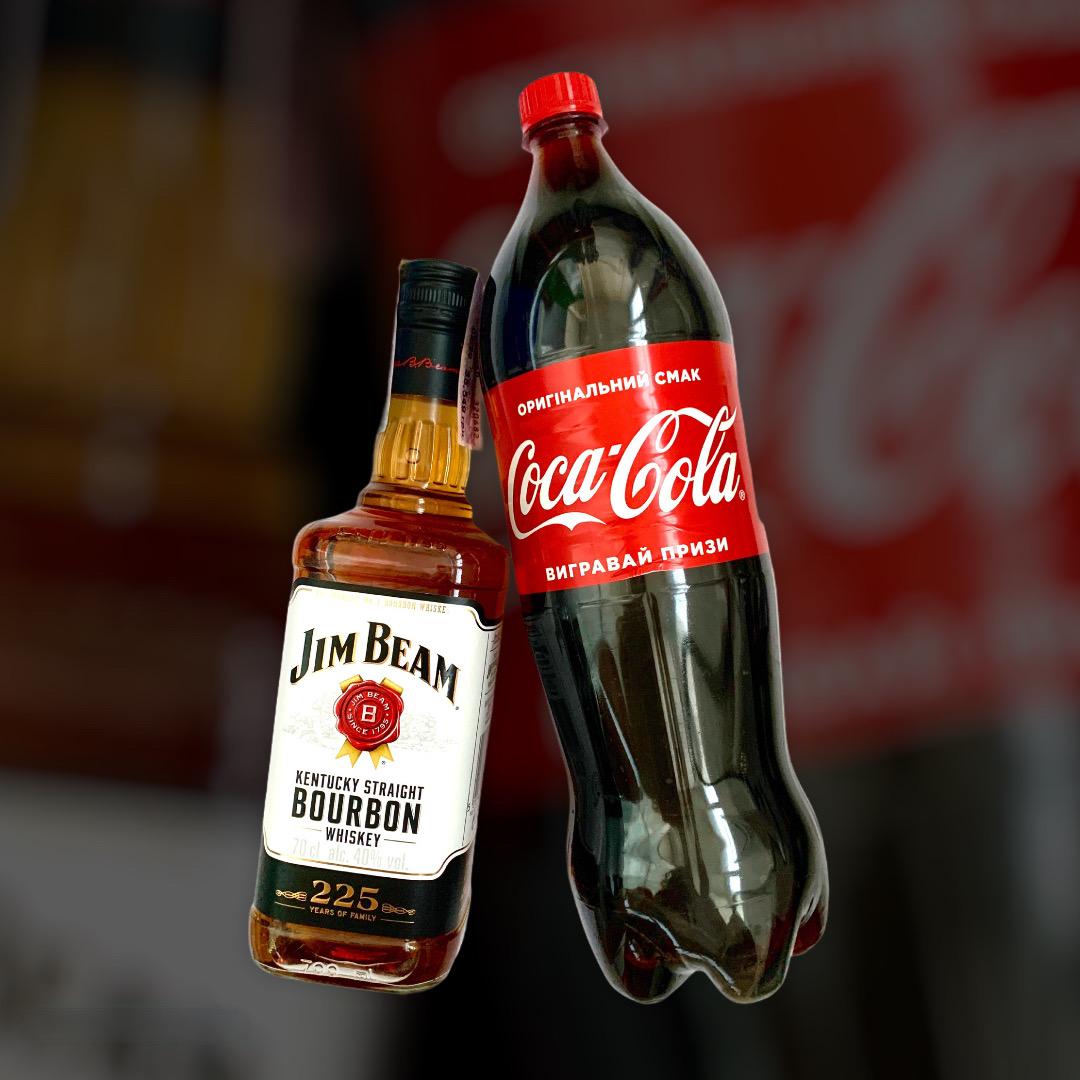 Set Whiskey Jim Beam + Coca-Cola 0,7 l + 1,5 l