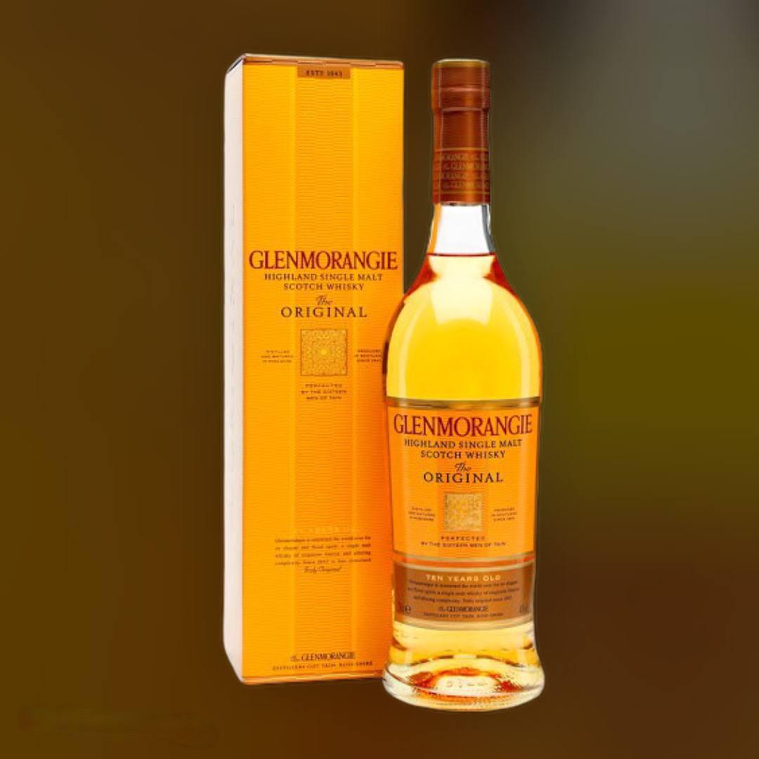 Single malt whiskey Glenmorangie Original 10 years of exposure to 40% in a gift box 0.7 l