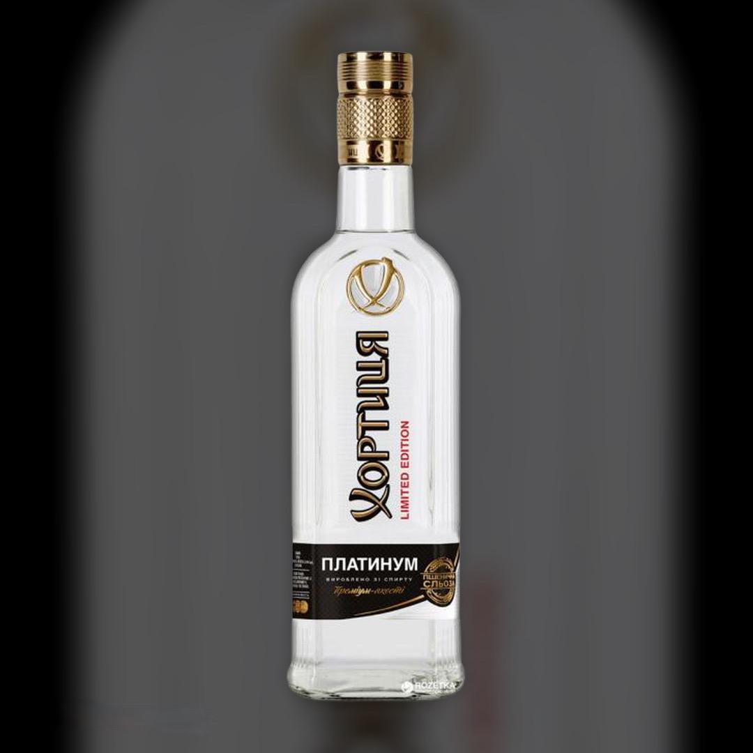 Delivery vodka Khortytsya Platinum clock in Kiev